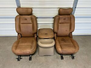 1997 2003 Ford F 150 F150 Crew Cab King Ranch Bucket Seats Console Hot Rod