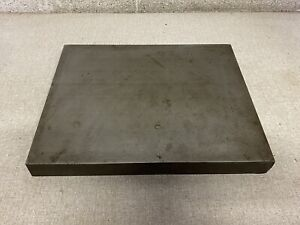 Vintage Iron Steel Surface Inspection Plate Machine Shop Tool 10 X 12