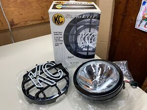 New Kc Slim Lite Off Road Light 1121 4213 Halogen Bulb 6 open Box