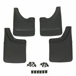 4 Piece Front Rear Mud Guards Splash W o Flares For 02 08 Dodge Ram Mud Flaps