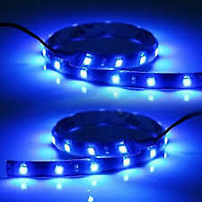 Ultra Blue 6pcs 12v 12 Smd Flexible Led Strip Light Waterproof For Car Truck