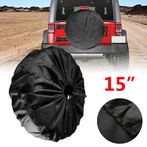 15 Universal Spare Tire Tyre Wheel Cover For Car Trailer Rv Camper Black Usa