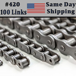 420 Roller Chain 100 Link With Connecting Link atv Dirt Bike