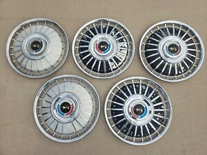Vintage 1962 Ford 14 Hubcap Wheelcover Center Cap Set Of 5 Free Shipping