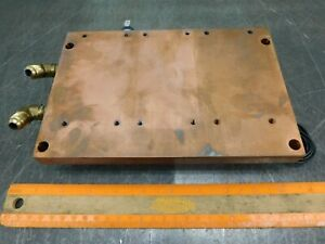 Copper Block 13 Lbs Water Cooled And Heated Copper Plate Fits Welder Or Computer