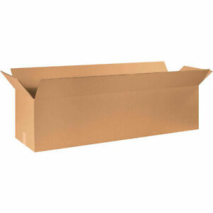 48 X 12 X 12 Long Cardboard Corrugated Boxes 65 Lbs Capacity Ect 32 Lot Of