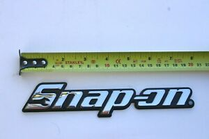 Snap On Tools Toolbox Logo Nameplate Brand New W Peel Stick Mounting Adhesive