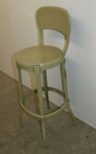 Vintage Green Metal Cosco Industrial Stool Pick Up Only