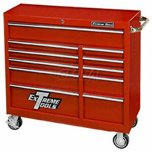 Extreme Tools 41 11 Drawer 24 Deep Roller Cabinet In Red Pws4124rctxrd