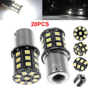 20x Super Bright 6 6w White 1156 Rv Trailer 33 Smd Led 1141 Interior Light Bulbs