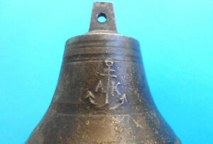 1800 S Beautifull Antique Brass Ship S Bell Size 3 1 X 3 3 Perfect Working