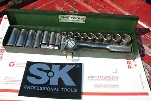 Sk Tools 3 8 Socket Set Sae 19pc