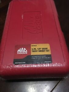 Mac Tools 1 2 Drive 5pc Twist Socket Set New Sealed Svt5lr