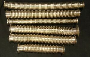 Kf 16 Kf 25 Stainless Steel Vacuum Flexible Bellows Corrugated Hose Nw50 Flanges