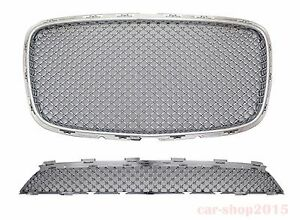 2015 2017 Chrysler 300 300c Front Grille Chrome Bentley Style Upper Lower
