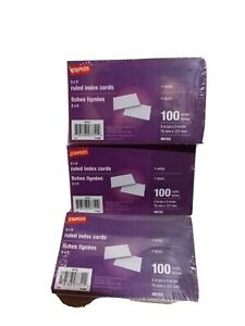 3x5 Ruled Index Cards Staples Brand lot Of 3 new