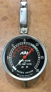 Vintage Mac Tools Engine Vacuum Fuel Pump Tester