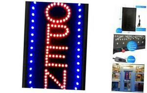 22x13inch Large Vertical Led Open Sign For Business Lighted Signs With Flashing