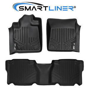 Smartliner Custom Fit Black Floor Mat Set For 2007 2011 Toyota Tundra Crewmax