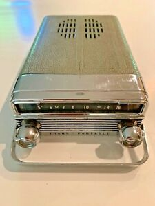 1958 58 Olds Oldsmobile Trans Portable Pullout Am Radio Untested Delco