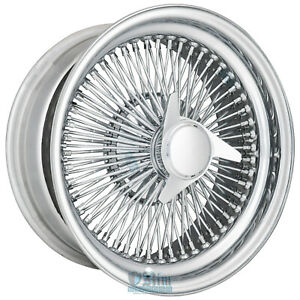 16 Inch 16x7 Standard Chrome Wire Wheel 100 Spokes With 3 Bar Knock Off