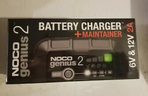 Noco Genius2 Battery Charger And Maintainer 2 Amp 6 12 Volt New In Bx Ships Free