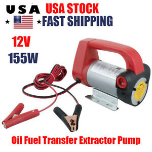 Electric Diesel Oil Fuel Transfer Extractor Pump Dc Motor Self Priming 155w 12v