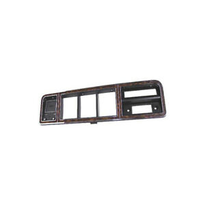 Ford Pickup Truck Instrument Cluster Bezel Wood Grain With Chrome Detailing
