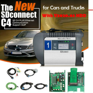 V2020 03 Mb Sd C4 Plus Star Diagnosis Obd2 Scanner Support Doip For Cars truck