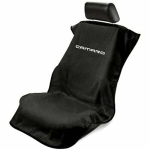 1 Black Seat Armour W Camaro Logo Front Seat Cover Towel Protector