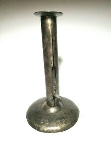 Antique Tin Hog Scraper Push Up Candle Stick 1800 S Excellent Condition
