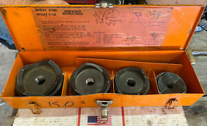 Ensley Large Sz Conduit Knockout Punch Set 2 1 2 4 Metal Case Ed4u 7304 8183