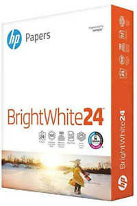 Hp Bright White Inkjet Paper 97 Brightness 24lb 8 1 2 X 11 500 Sheets ream