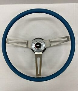1971 1972 C10 Chevy Pick Up Truck Comfort Grip Steering Wheel Kit Blue