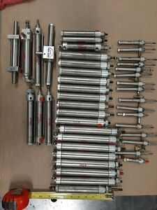 Bimba Pneumatic Air Cylinder Lot Of 43 Various Cylinders