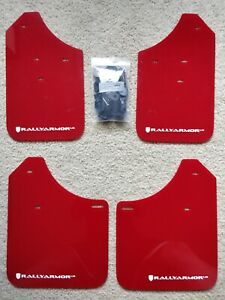 Rally Armor For 02 07 Subaru Wrx Sti Rs 2 5i Ur Red Mud Flap W White Logo