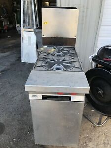 Vulcan Two Burner Range With Storage Cabinet Natural Gas