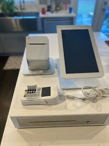 Clover Pos System Tablet Printer Key Pad Cash Register With Key Included