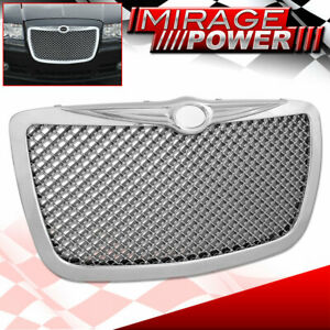 For 2004 2010 Chrysler 300c Chrome Bentley Style Grille Grill Badgeless Upgrade