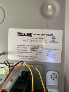 Generac Automatic Transfer Switch 16 circuit 100 amps