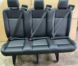 2015 2019 Ford Transit Van 3 Person Couch Bench Seat 55 Black Vinyl Inv 3