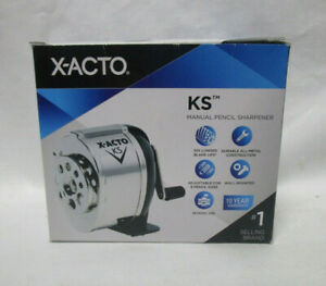 New X acto Manual Pencil Sharpener Metal Adjustable Size