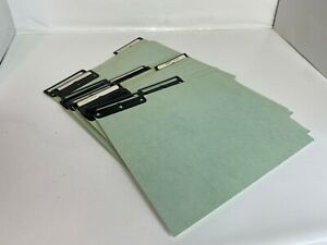 15 Vintage Hanging File Folders Midcentury Letter Sz Large Metal Tab Green