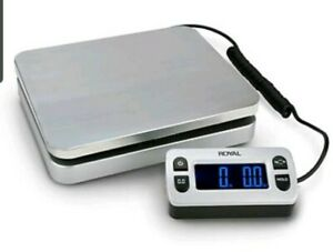 Royal Digital Mailing Or Shipping Scale 110 Pound Capacity Silver Vascula Carta