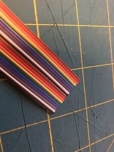 Rainbow Ribbon Cable 20 Conductor 0 050 Pitch 3 Feet 0 9 Meters
