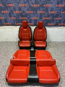 2010 Camaro Ss Oem Orange Leather Front Rear Seats