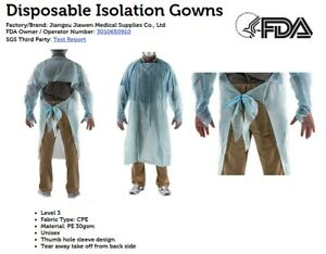 Disposable Isolation Gowns Medical Dental Ppe 100 Per Pack Usa Seller