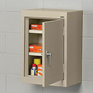 Sandusky Lee Wall hung Cabinet With Steel Doors 18x12x26 Putty