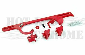 Throttle Bracket Holley 4150 4160 Dominator Carburetor Billet Aluminum Red