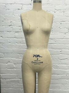 Industry Grade Female Full Body Dress Form With Collapsible Shoulders Pgm Used